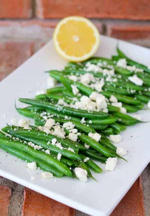 Green Beans with Lemon and Feta - Get the easy recipe on RachelCooks.com