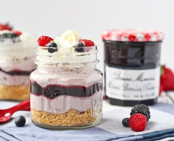 No Bake Lemon Berry Cheesecakes - get the easy dessert recipe on RachelCooks.com