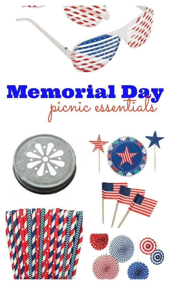 Memorial Day Picnic Essentials - Plan the perfect party! Get the patriotic details on RachelCooks.com.
