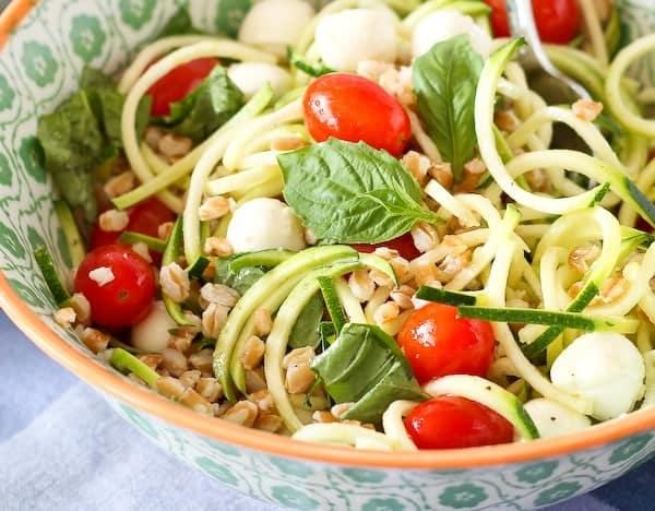 Closeup of mixed salad in bowl.