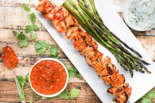 Grilled-Harissa-Chicken-Skewers-with-Yogurt-Dipping-Sauce-61