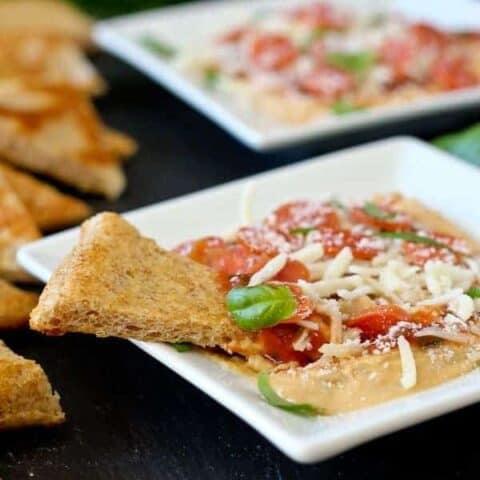 Pepperoni Pizza 6 Layer Hummus Dip