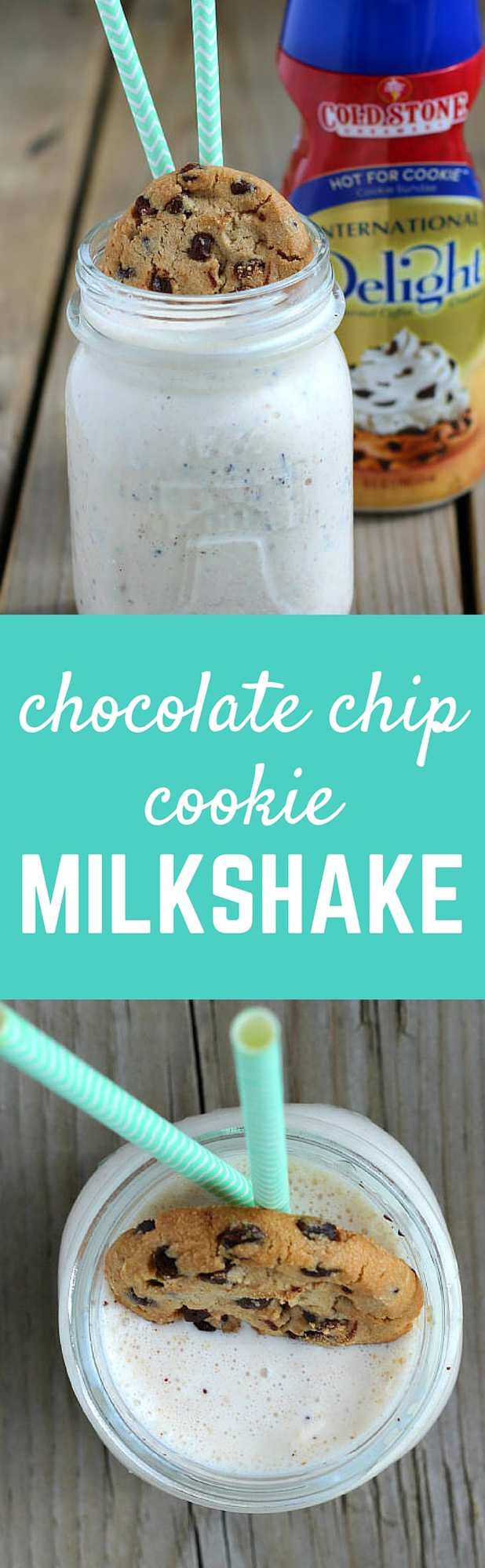 Chocolate Chip Cookie Milkshake - get the easy and fun recipe on RachelCooks.com