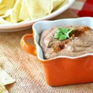 This healthy and creamy southwestern black bean dip only uses four ingredients and one packs an extra punch of protein. You'll love this for dipping or for spreading on sandwiches. Get the easy appetizer or snack recipe on RachelCooks.com!
