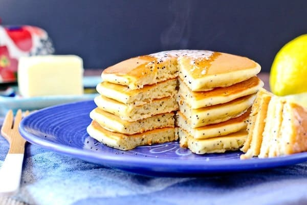 These Lemon Poppy Seed Cottage Cheese Pancakes start your day with protein and flavor! They'll quickly become a new breakfast favorite.
