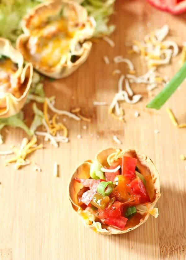 A healthy, fun, and delicious vegetarian meal in 20 minutes! The whole family will love these vegetarian taco cups. Get the easy recipe on RachelCooks.com!