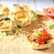 A healthy, fun, and delicious vegetarian meal in 20 minutes! The whole family will love these easy vegetarian taco cups. Get the recipe on RachelCooks.com!