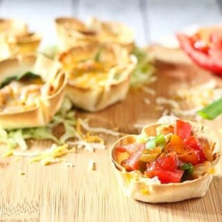 Easy Vegetarian Taco Cups (ready in 20 minutes!)