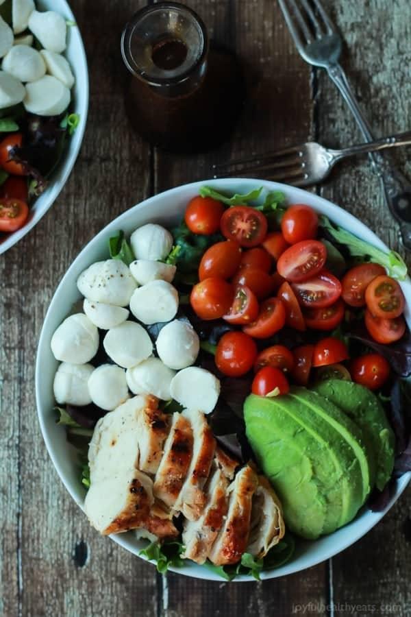 Avocado Caprese Chicken Salad with Balsamic Vinaigrette-2