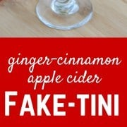 Ginger Cinnamon Apple Cider Fake-Tini - A perfect fall mocktail for any occasion! Get the easy recipe on RachelCooks.com!