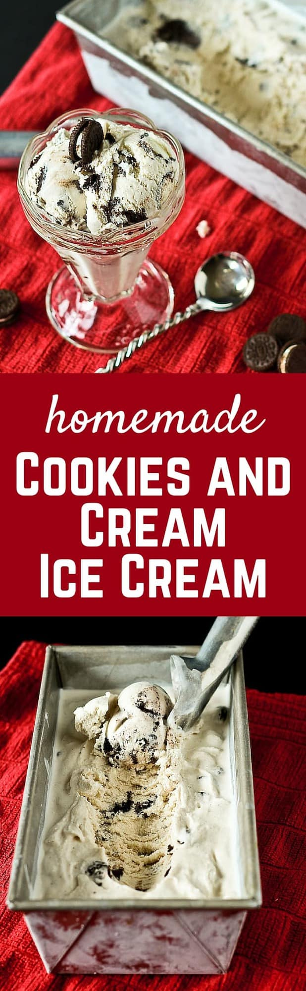 Homemade Cookies and Cream Ice Cream - You can't beat this classic flavor! - Get the recipe on RachelCooks.com