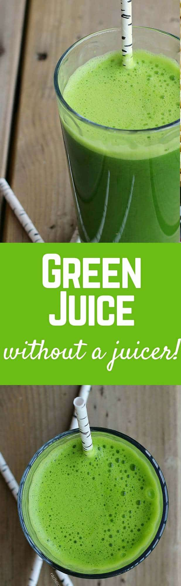 Green Juice Without a Juicer! - Get the easy method and healthy recipe on RachelCooks.com