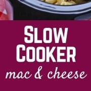 Perfect for parties, this slow cooker macaroni and cheese recipe is creamy, flavorful, and so easy to make! Get the recipe on RachelCooks.com!