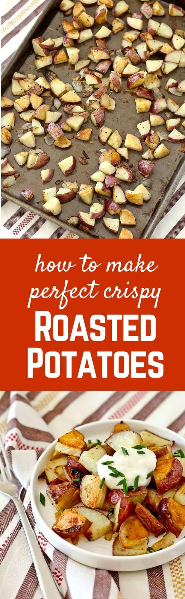 Don't settle for soggy potatoes. Learn how to make crispy roasted potatoes - it's SO easy! They're irresistibly delicious. Recipe on RachelCooks.com - great for breakfast!