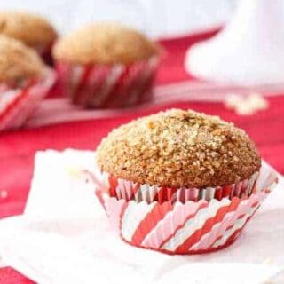 Gingerbread Muffins with White Chocolate Chips