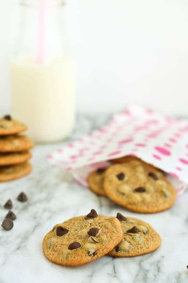 Malted chocolate chip cookies are pretty darn irresistible. Grab a glass of milk and go to town! Get the recipe on RachelCooks.com!