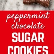 These peppermint chocolate sugar cookies are a fun take on the traditional sugar cookie - perfect for the chocolate lover!