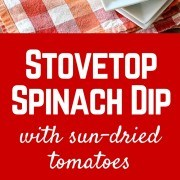 Better than spinach artichoke dip! This stovetop spinach dip can be served to guests straight from your stove. The sun-dried tomatoes will have people raving about this easy recipe! Get the easy appetizer recipe on RachelCooks.com!