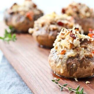 Coq Au Vin Stuffed Mushrooms Recipe