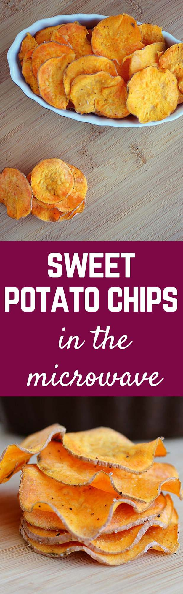 Sweet potatoes can be transformed into crispy and delicious homemade sweet potato chips in a mere 5 minutes in the microwave! Get the easy method and recipe on RachelCooks.com!
