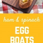 Take your egg casseroles outside the square pan with this fun egg boat recipe. Crunchy bread holds a flavorful and irresistible egg filling. These will transform brunch! Get the easy recipe on RachelCooks.com!