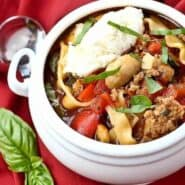 Love lasagna but hate all those layers? You're not alone. You're going to adore this lasagna soup recipe. It gives you the comfort that only lasagna can...but without the stress.