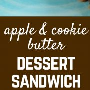 Try this apple and cookie butter dessert sandwich when you need a quick sweet treat. You're only minutes away from melty, sweet goodness.