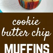 Cookie Butter Chips add a special surprise to these delicious muffins. Get the fun recipe on rachelcooks.com!