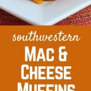 "These southwestern mac & cheese muffins will be loved by both your buddies & your toddler. These ""muffins"" are made from macaroni and cheese and are spiced up with a southwestern flair. Get the easy and fun recipe on RachelCooks.com!"