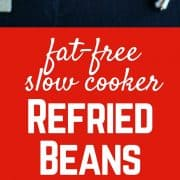 Slow Cooker Refried Beans - cheaper and better tasting than the can - and nearly as easy! Freezer friendly, too! Get the easy recipe on RachelCooks.com!