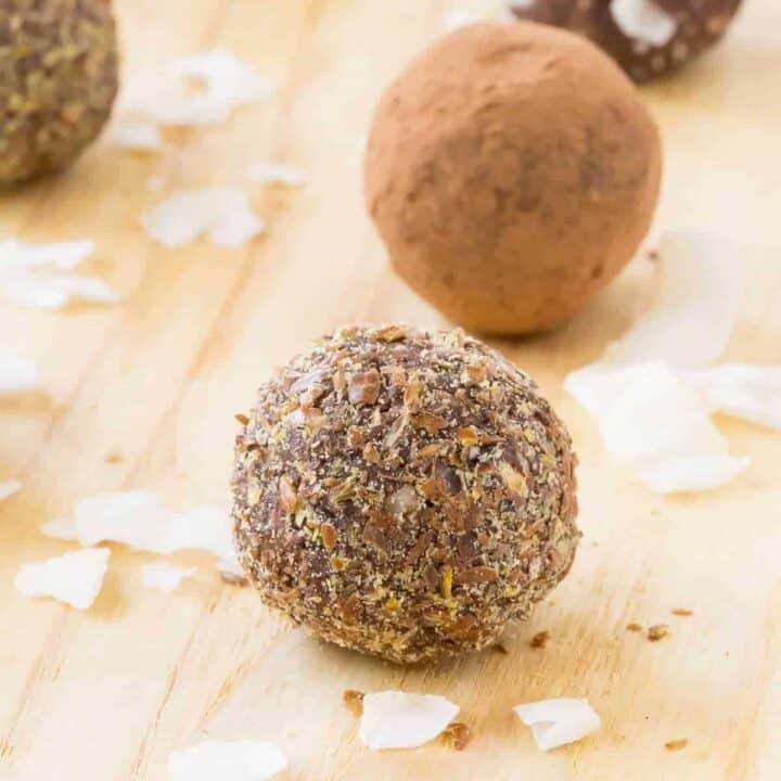 Chocolate Coconut Nut-Free Energy Balls