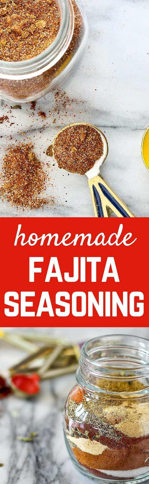 Making homemade fajita seasoning is so easy! No additives or artificial anything! Try it and you'll never go back to store bought packets. Get the EASY recipe on RachelCooks.com!