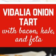 This Vidalia onion tart will have everyone around you gushing about it. Even my husband - who isn't crazy about onions, went back for a third helping!