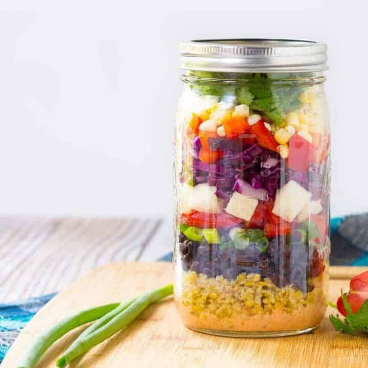 Southwestern Chopped Salad in Mason Jar