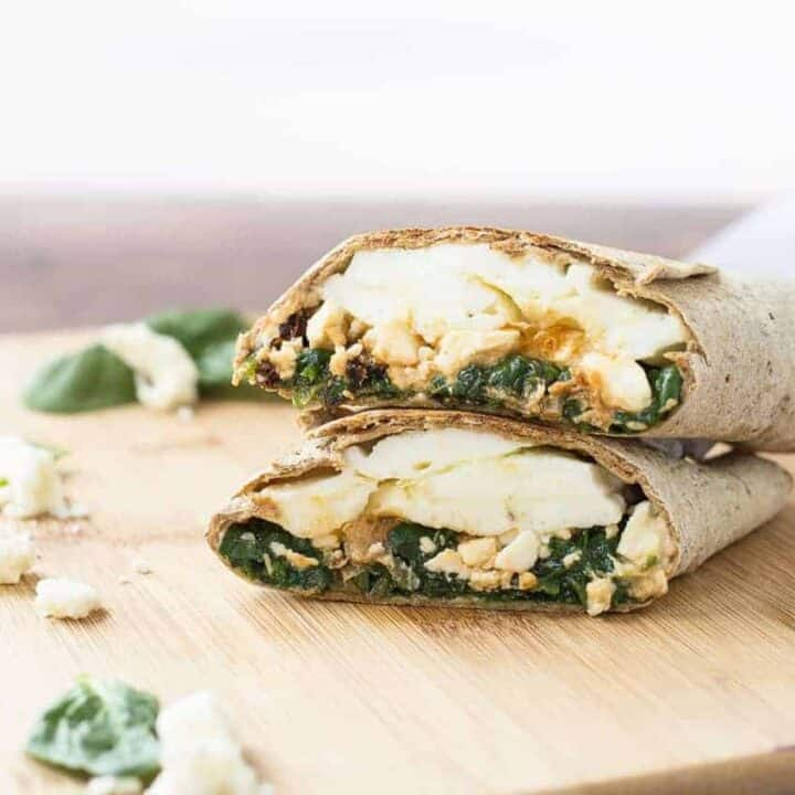 Copycat Starbucks Egg White Wrap With Spinach And Feta