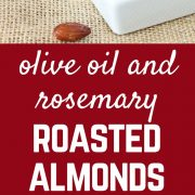 These olive oil and rosemary roasted almonds are an irresistible snack that you can actually feel good about eating! Get the recipe on RachelCooks.com!