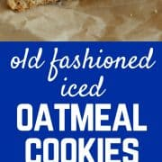 Old Fashioned Iced Oatmeal Cookies | RachelCooks.com