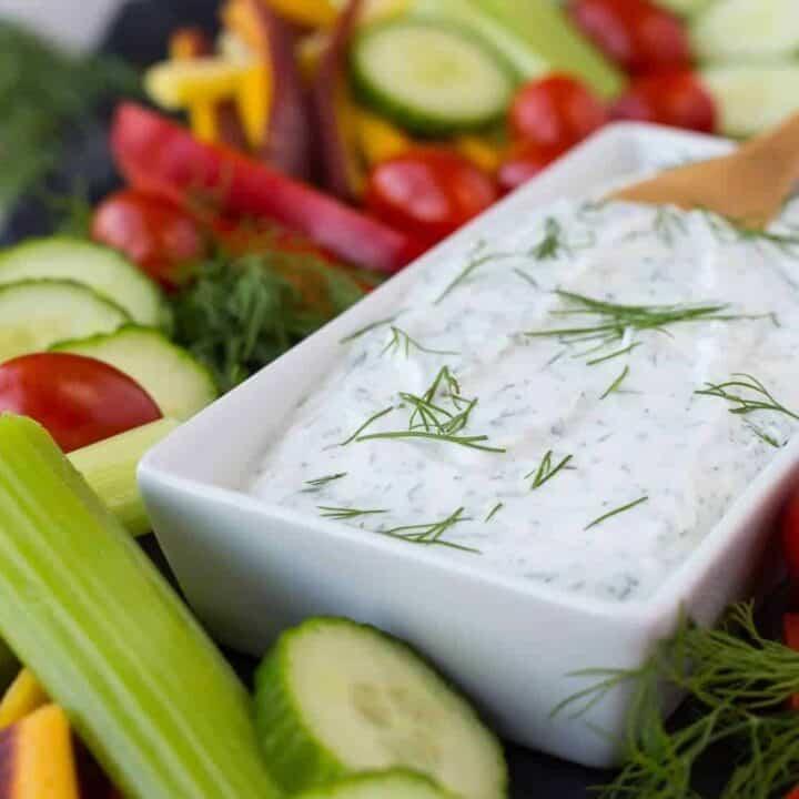 Skinny Dill Vegetable Dip