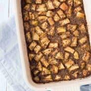 在它的最好的一顿预学习,这个简单的苹果肉桂烘焙燕麦食谱味道好极了一周都长!一个享受它是酸奶的顶部一团的最佳途径!得到RachelCooks.com轻松和健康的早餐食谱!徳赢vwin pk10
