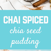 The flavors of Chai in a chia seed pudding recipe....chai chia! Say that 10 times fast! Or just make this flavorful, healthy, sweet treat. Get the easy recipe on RachelCooks.com!