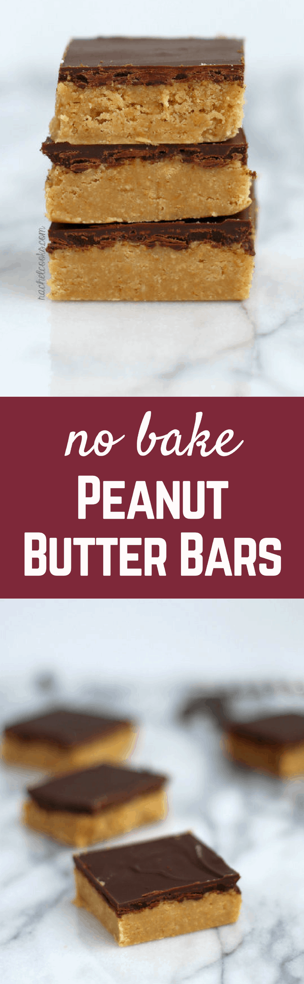 No Bake Peanut Butter Bars {taste just like Reese's!} | RachelCooks.com