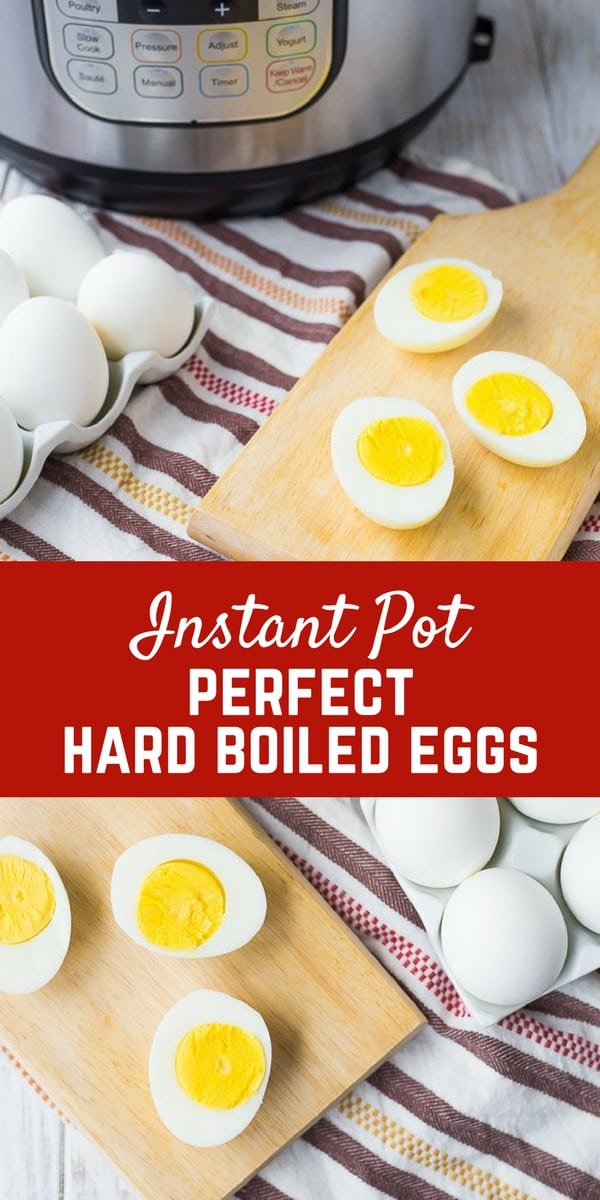 Pressure Cooker Hard Boiled Eggs are in my mind, THE ONLY way to make a boiled eggs. The egg shells slip right off and each egg is perfectly cooked. An Instant Pot will change the way you make boiled eggs! Get the method on RachelCooks.com!