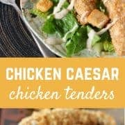 These Chicken Caesar Chicken Tenders are an exciting new take on the classic flavors of Caesar salad that everyone knows and loves. Fun to eat and easy to make, these will be a hit with the whole family.