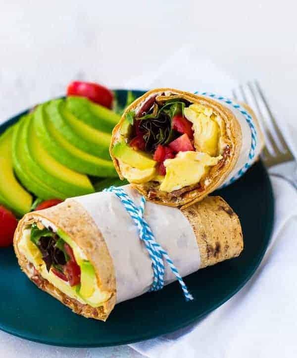 Ham And Avocado Scramble Recipe: California Breakfast Wrap (Avocado, Egg, Bacon & More