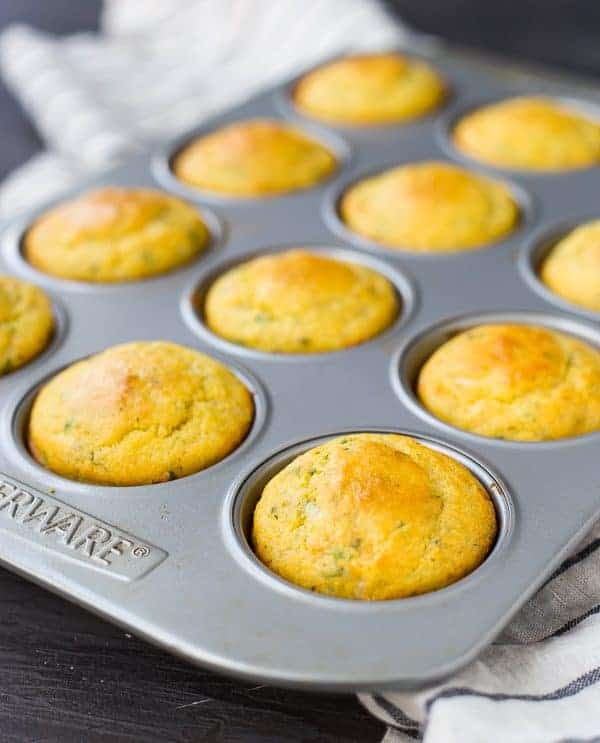 This Cornbread Muffin Recipe with Herbs and Cheddar takes your standard corn muffins up a notch thanks to flavorful herbs and rich, sharp cheddar. They're perfect with a bowl of chili!