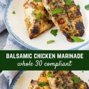 This balsamic chicken marinade is made using all ingredients you probably have on hand. It will become a favorite for both grilling and cooking in the oven! Get the easy recipe on RachelCooks.com!