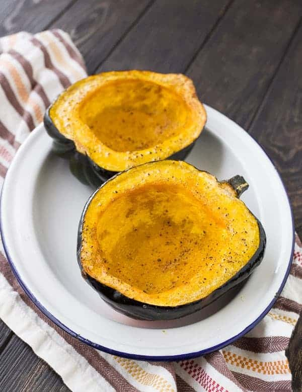 Learn how to cook acorn squash in two ways: Sweet and savory. Both are super easy and make for an fantastic side dish! Get the details on RachelCooks.com!