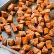 The chili powder and cumin coating on these oven roasted sweet potatoes makes them absolutely perfect in burrito bowls, on tacos, or on their own! They're great with eggs at breakfast, too.Get the simple recipe on RachelCooks.com!