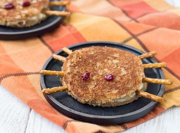 Cute, festive, and just a little creepy, this spider halloween grilled cheese sandwich will have your kids giggling and grinning.Get the fun recipe on RachelCooks.com!