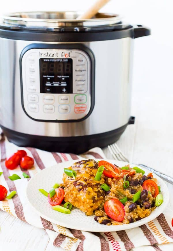 A complete meal that's made in one pot and is ready in 30 minutes, healthy, and full of flavor -- this Instant Pot chicken is a weeknight lifesaver!